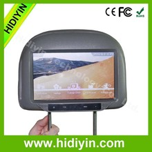 Hot sale car entertainment 9 inch TFT lcd car/taxi headrest monitor with pillow