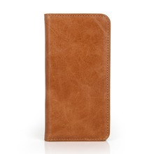 Best selling genuine leather standing cell phone case for iPhone 6