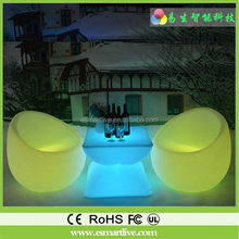 LED furniture LED sofa/chair sofa upholstery fabric garden led ball light
