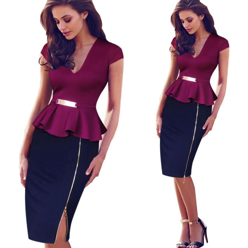 Creative Latest Women39s High Quality Dresses Black V Neck Casual Dress Long