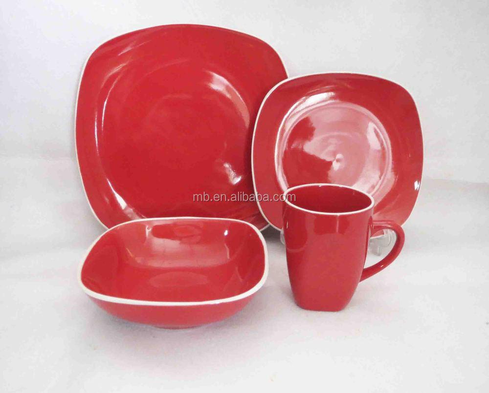 vente en gros vaisselle moderne carr couleur bon march maill e avec du blanc jante 16. Black Bedroom Furniture Sets. Home Design Ideas