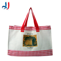2015 New Design Cotton Bulk Reusable Folding Shopping Bag with PP Webing Handle