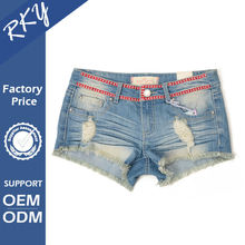 Customized Design OEM Production Quick Dry Mini Sexy Girls Jean Shorts