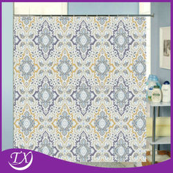 Polyester Febric Printing Diamond Shower Curtain