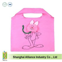 190T Rabbit shape foldable shopping bag ALD1083