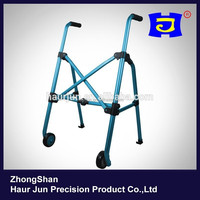 Blue standing walker & rollator for adults