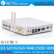 Thin Client ITX MINI Computer Fanless PC Intel Core I3 4010U 4GB DDR3 250G HDD Graphics 4400 Support 4K HD