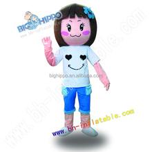 active girl character mascot costume