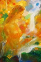 acrylic art panels half-naked women painting on canvas for living room