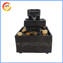 resin tablet water fountain indoor battery operated garden water fountain