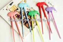 Food grade cartoon animal silicone chopsticks/kitchen ware