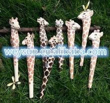 Animal Wooden carving creative ballpoint pen wood Ball point pens