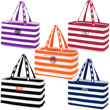 Monogrammed Game Day tote bag