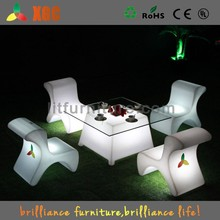 led waterproof table/led lounge table/led color changing light table