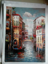 Hot sale excellent quality hand painting scenery painting pictures made in China