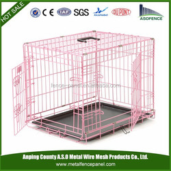 Metal Dog Crate Colors Folding Dog Cage
