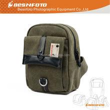 Medium Size waterproof canvas camera Satchel bag for Canon Nikon Panasionc camera