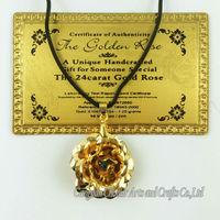 2015 china wholesale pirce new arrival product hot sale lovely gift pendant 24k gold rose pendant new design gold pendant