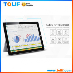 Hot sale products tempered glass screen protector for surface pro3 12inch screen full cover, 9H Explosion Proof glass protect