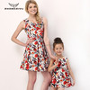 Mommy and Me matching Print Dresses, Sleeveless Maxi dresses for Mother and Daughter Z4295