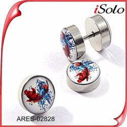 Top Sale Silver Stud Earring Goldfish Design For Women Fancy Earring Stud
