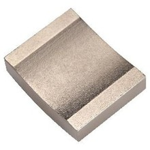 Competive Neodymium grade N40M arc segment magnets with gold coating