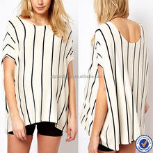 china supplier clothing maternity clothes short sleeve vertical stripe t shirts