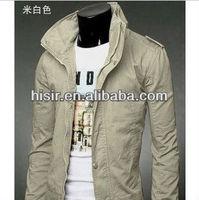 The new Korean Slim collar badges washed denim jacket 911B