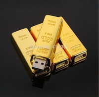 Pass H2testw !! 100% Real capacity 8GB 16GB 32GB 64GB limited edition Gold Bar usb 2.0 flash drive flash memory stick pendrive