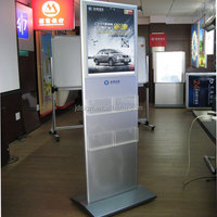 Indoor advertising free standing poster display stand