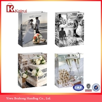 Luxury paper shopping bag Romantic printed wedding gift bags paper bag for gift