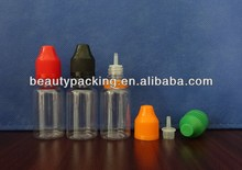 15ml PET needle bottle for e-liquid juice flavor with childproof and tamper evident seal cap