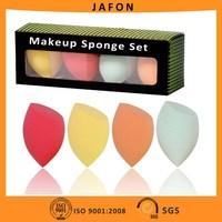 4pcs Colorful Angled Beauty Refining Complexion Makeup Blending Sponge Egg