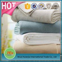 Alibabba china supplier wholesale high quality waffle woven blanket