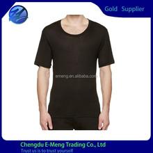 New Design Black Cotton Soft Thin Plain Sexy Running Wear for Men
