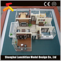 decoration resin miniature building model low cost
