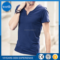 men slim fit blank t-shirt with wide neck