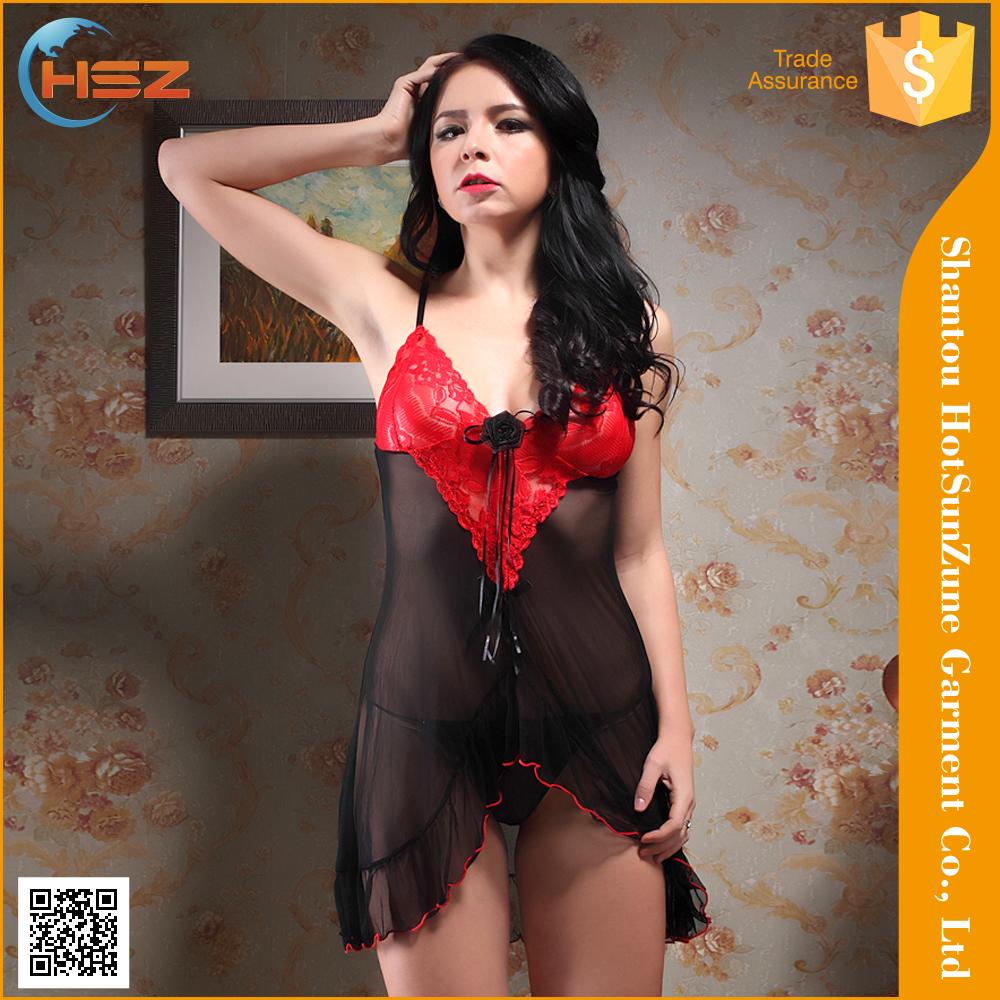 HSZ-8822 # al por mayor lingerie sex vestido sexy playboy babydoll lencería vestido de noche unisex ropa interior tangas