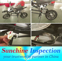 Scooters, Dirt Bike, Pit Bike Inspection Services / Production Quality Control / Two-Wheelers Inspection and Tests