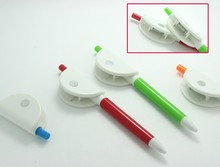 novel plastic flat clip ball pen for promotinal item