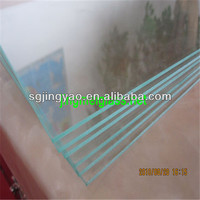 transparent sheet glass with polished edge for photo frame