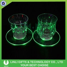 2015 New Arrival Led Flashing Bottle Coaster For Night Club,Multicolor Flashing Bottle Coaster,Led Light Drink Coasters