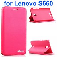 Karzea Classic Flip Stand PU Leather Case for Lenovo S660
