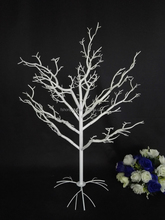 White Artificial Plastic Winter Dry Wedding Table Centerpieces tree,wish tree