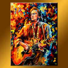 New arrival knife figure with guitar modern wall decoration acrylic painting