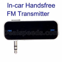 AED-A08 Stylish 3.5mm In-Car Handsfree FM Transmitter for All Smartphones MP3 MP4 etc