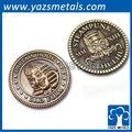 Altmessing benutzerdefinierte metall souvenir-münze