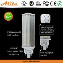 China Professional led light factory UL compatible ballast E26 G23 G24 pl led/Perfect replace CFLs 7w 11w 9w g23 led pl lamp