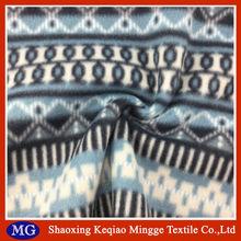 Soft hand feeling yarn dyed knitted polyester polar fleece fabric
