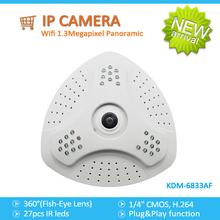 Llegaron nuevos!!! Grado 360 1.3 panorámica de megapíxeles de ojo de pez lente de la cámara ip